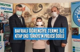 Bafralı Öğrenciye Terme İle Kitap Oku Türkiye'm...