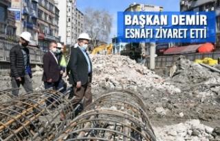 Başkan Demir, Esnafı Ziyaret Etti