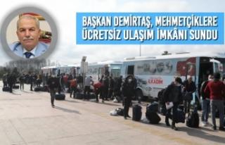 Başkan Demirtaş, Vatani Görevlerini Tamamlayan...