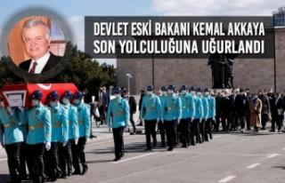 Devlet Eski Bakanı Kemal Akkaya Son Yolculuğuna...