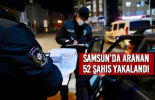 Samsun'da Aranan 52 Şahıs Yakalandı