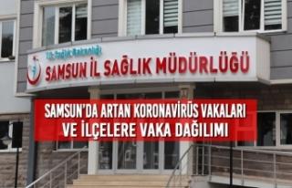 Samsun'da Artan Koronavirüs Vakaları ve İlçelere...