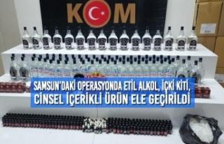 Samsun'da Düzenlenen Operasyonda Etil Alkol, İçki...