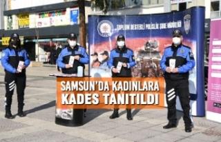 Samsun'da Kadınlara KADES Tanıtıldı