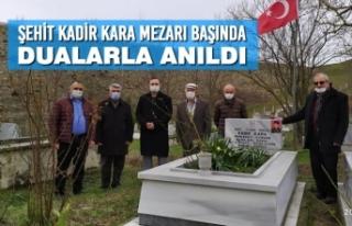 Şehit Kadir Kara Mezarı Başında Dualarla Anıldı