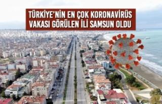 Türkiye'nin En Çok Vaka Görülen İli Samsun...