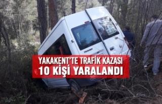 Yakakent'te Trafik Kazası; 10 Kişi Yaralandı