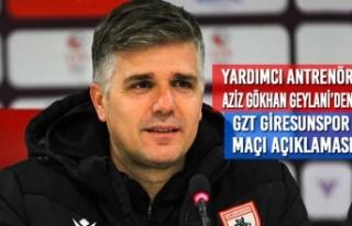 Yardımcı Antrenör Aziz Gökhan Geylani'den Gzt...