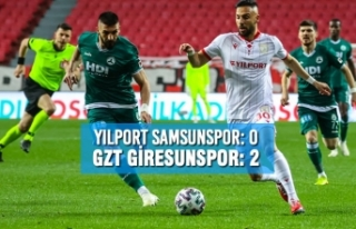 Yılport Samsunspor: 0 – Gzt Giresunspor: 2