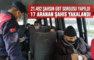 21.492 Şahsın GBT Sorgusu Yapıldı, 17 Aranan Şahıs...