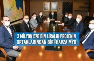 3 Milyon 576 Bin Liralık Projenin Ortaklarından...