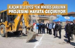 Alaçam Belediyesi Yeni Minibüs Garajının Projesini...