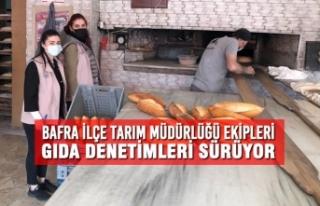 Bafra İlçe Tarım Müdürlüğü Ekipleri Gıda...