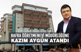 Bafra Öğretmenevi Müdürlüğüne Kazım Aygün...