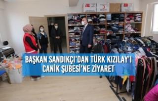 Başkan Sandıkçı'dan Türk Kızılay'ı Canik...