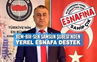 BEM-BİR-SEN Samsun Şubesi'nden Yerel Esnafa Destek