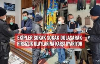 Ekipler Sokak Sokak Dolaşarak Hırsızlık Olaylarına...