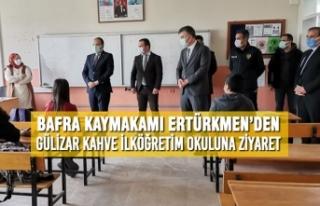 Kaymakam Ertürkmen'den Gülizar Kahve İlköğretim...