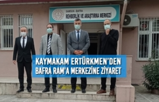Kaymakam Ertürkmen'den Rehberlik Araştırma Merkezine...