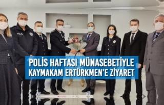 Polis Haftası Münasebetiyle Kaymakam Ertürkmen'e...