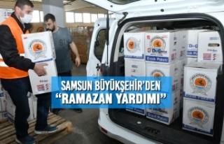 """Samsun Büyükşehir'den """"Ramazan Yardımı"""""""