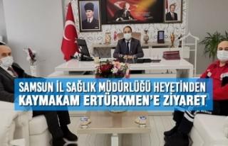 Samsun İl Sağlık Müdürlüğü Heyetinden Kaymakam...