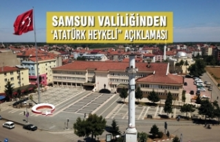 Samsun Valiliğinden 'Kaymakamlık Önündeki Atatürk...