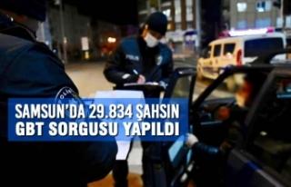 Samsun'da 29.834 Şahsın GBT Sorgusu Yapıldı
