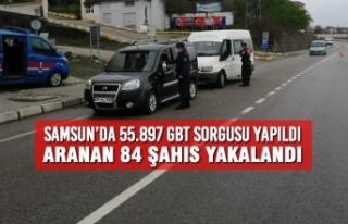 Samsun'da 55.897 GBT Sorgusu Yapıldı, Aranan 84...