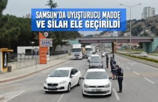 Samsun'da Uyuşturucu Madde ve Silah Ele Geçirildi
