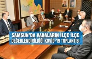 Samsun'da Vakaların İlçe İlçe Değerlendirildiği...