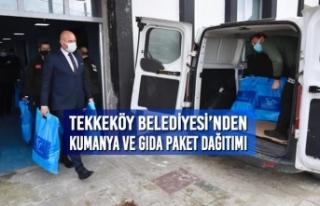 Tekkeköy Belediyesi'nden Kumanya ve Gıda Paket...