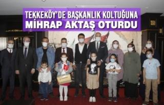 Tekkeköy'de Başkanlık Koltuğuna Mihrap Aktaş...