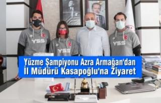 Yüzme Şampiyonu Azra Armağan'dan İl Müdürü...