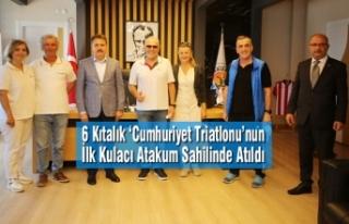 6 Kıtalık 'Cumhuriyet Triatlonu'nun İlk Kulacı...