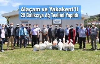 Alaçam ve Yakakent'li 20 Balıkçıya Ağ Teslimi...