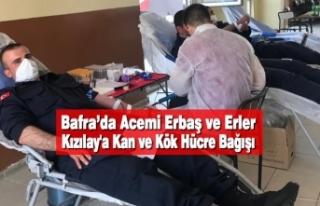 Bafra'da Acemi Erbaş ve Erler Kızılay'a...
