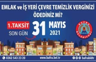 Emlak ve İş Yeri ÇTV'de Son Ödeme Tarihi...