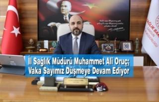 İl Sağlık Müdürü Muhammet Ali Oruç; Vaka Sayımız...