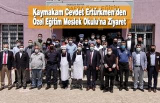 Kaymakam Cevdet Ertürkmen'den Özel Eğitim Meslek...