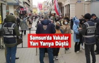 Samsun'da Vakalar Yarı Yarıya Düştü