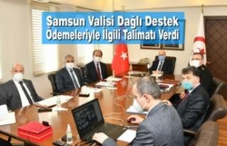 Samsun Valisi Dağlı Destek Ödemeleriyle İlgili...