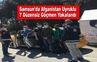 Samsun'da Afganistan Uyruklu 7 Düzensiz Göçmen...