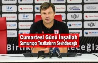 Teknik Direktör Ertuğrul Sağlam; Altınordu Maçını...