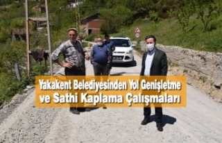 Yakakent Belediyesinden Yol Genişletme ve Sathi Kaplama...