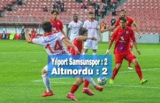 Yılport Samsunspor : 2 - Altınordu : 2