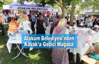 Atakum Belediyesi'nden Kavak'a Gezici Mağaza