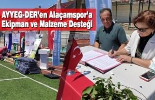 AYYEG-DER'en Alaçamspor'a Ekipman ve Malzeme...