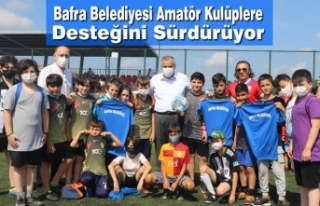Bafra Belediyesi Amatör Kulüplere Desteğini Sürdürüyor