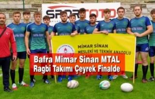 Bafra Mimar Sinan MTAL Ragbi Takımı Çeyrek Finalde